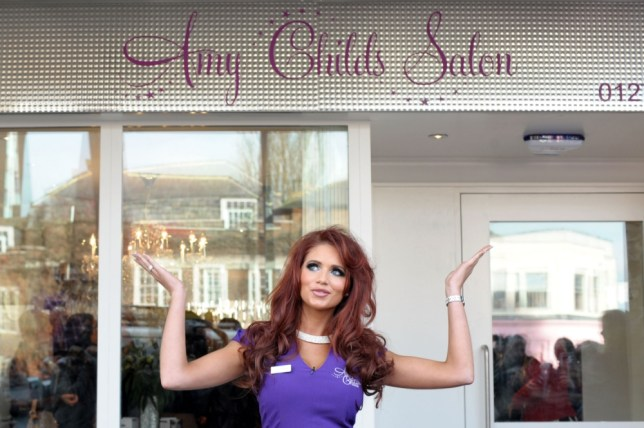 Amy Childs at one of her beauty salons, in Brentwood (Picture: Getty)