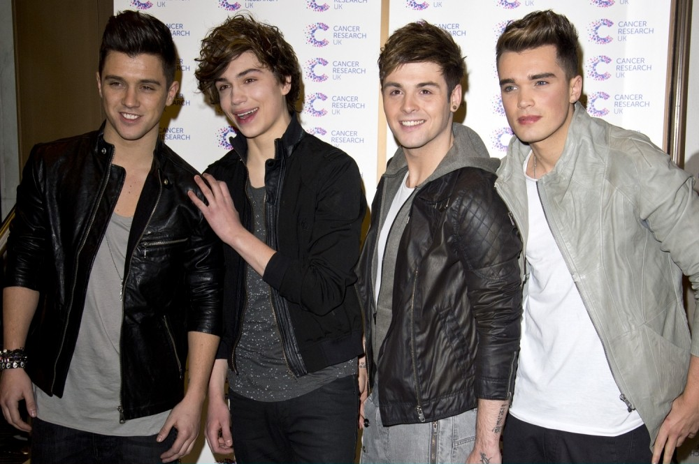 LONDON, ENGLAND - APRIL 03:  Union J attend the James' Jog-on to Cancer charity fundraiser hosted by journalist James Ingham at Kensington Roof Gardens on April 3, 2013 in London, England.  (Photo by Ben A. Pruchnie/Getty Images)