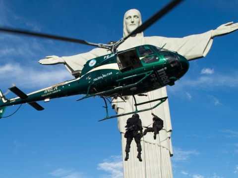 Gallery: Rio de Janeiro police take part in World Cup security drills in shadow of Christ the Redeemer