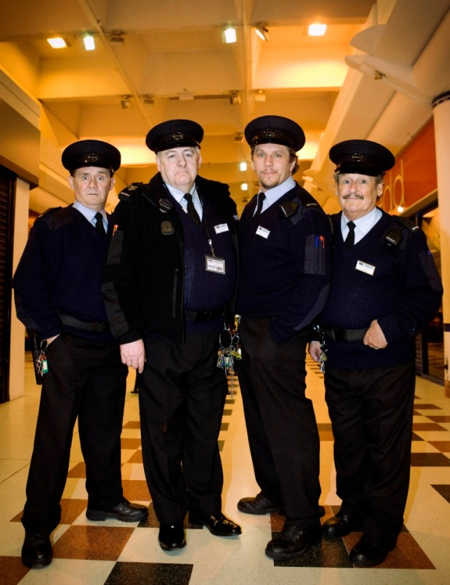 The Security Men stars Brendan O'Carroll, Peter Wight, Dean Andrews and Bobby Ball (Picture: Rachel Joseph/ ITV)