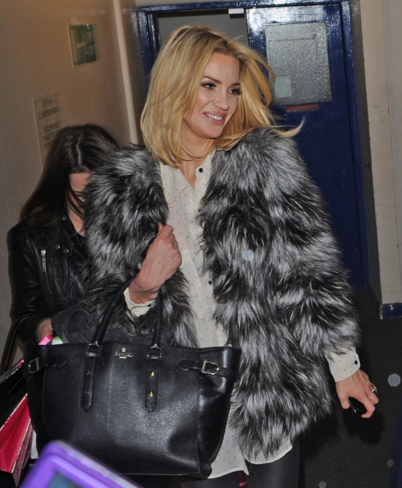 Sarah Harding leaves Celebrity Juice studios grinning as she makes first public appearance since arrest