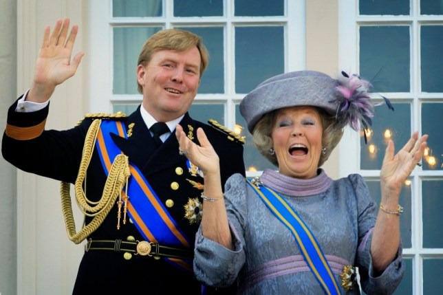 Dutch Queen Beatrix and Dutch Crown Prince Willem Alexander