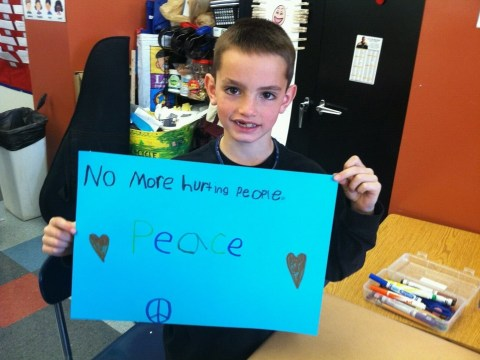 Eight-year-old Boston marathon explosions victim's tragic message of peace