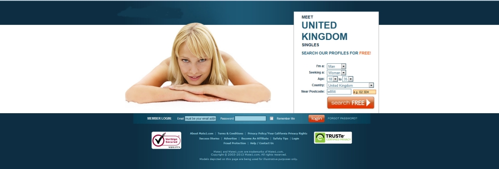 Dating site advert
