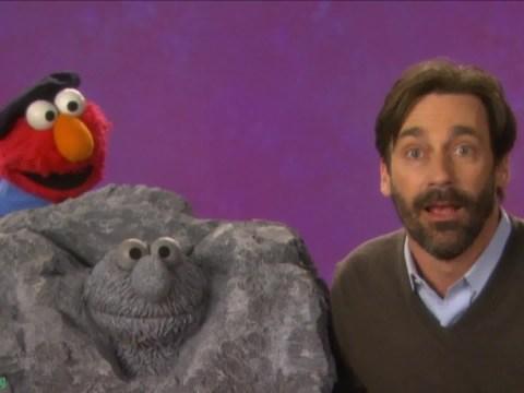 Jon Hamm swaps Mad Men for Muppets as he makes Sesame Street appearance