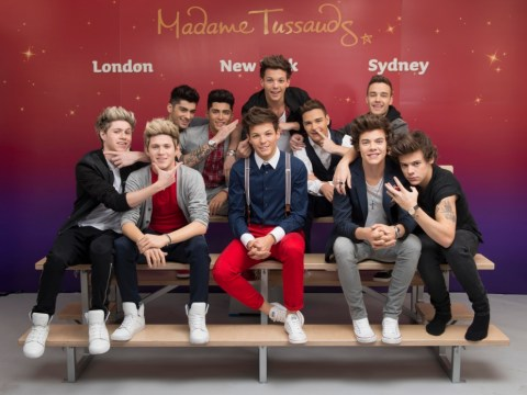 One Direction meet their Madame Tussauds doubles as the waxworks kick off their world tour in London
