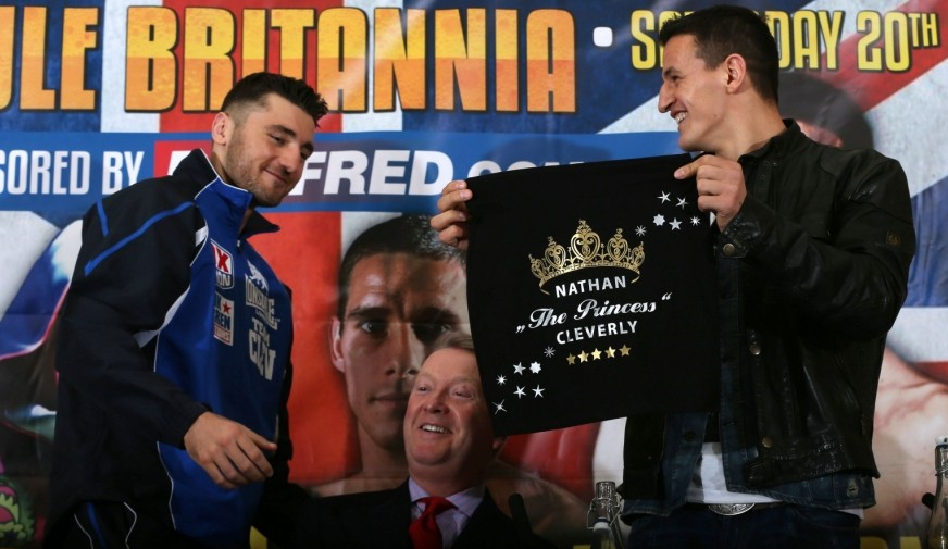 Nathan Cleverly skirts the issue at pre-fight face-off with Robin Krasniqi