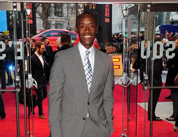 Don Cheadle arriving for the premiere of Iron Man 3 at the Odeon Leicester Square, London. PRESS ASSOCIATION Photo. Picture date: Thursday April 18, 2013. See PA story SHOWBIZ IronMan. Photo credit should read: Ian West/PA Wire