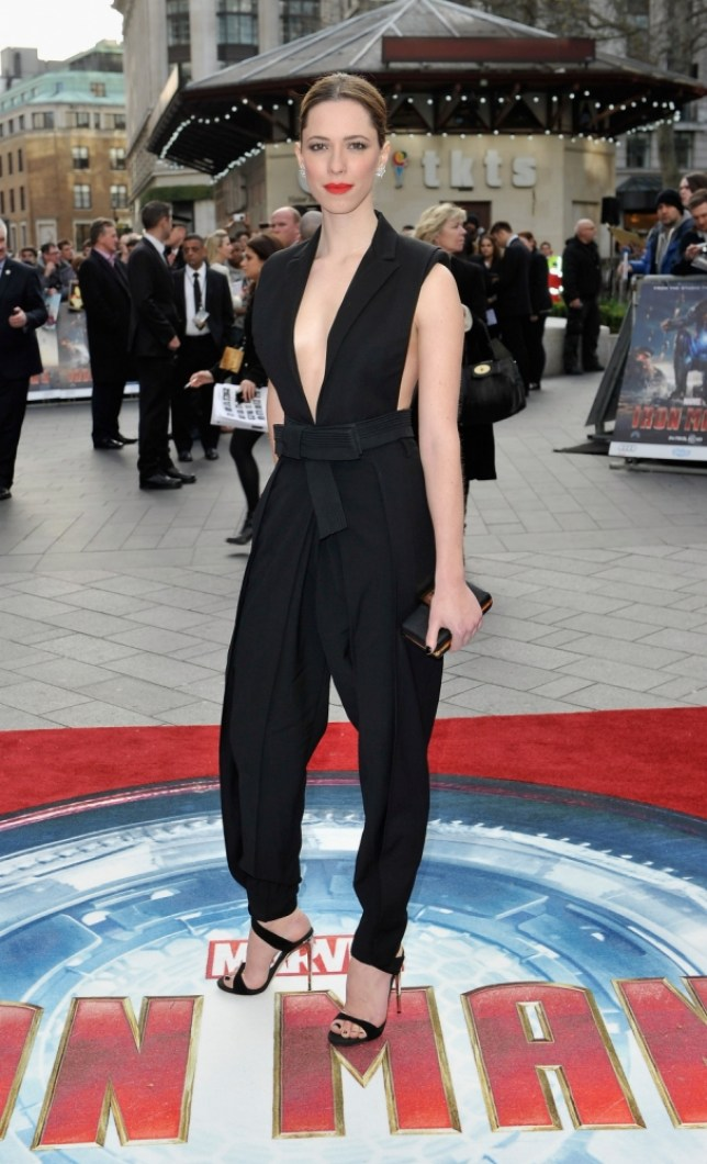 Rebecca Hall at a special screening of Iron Man 3 at the Odeon in Leicester Square (Picture: Getty)