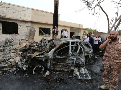 Gallery: French embassy bombing in Tripoli
