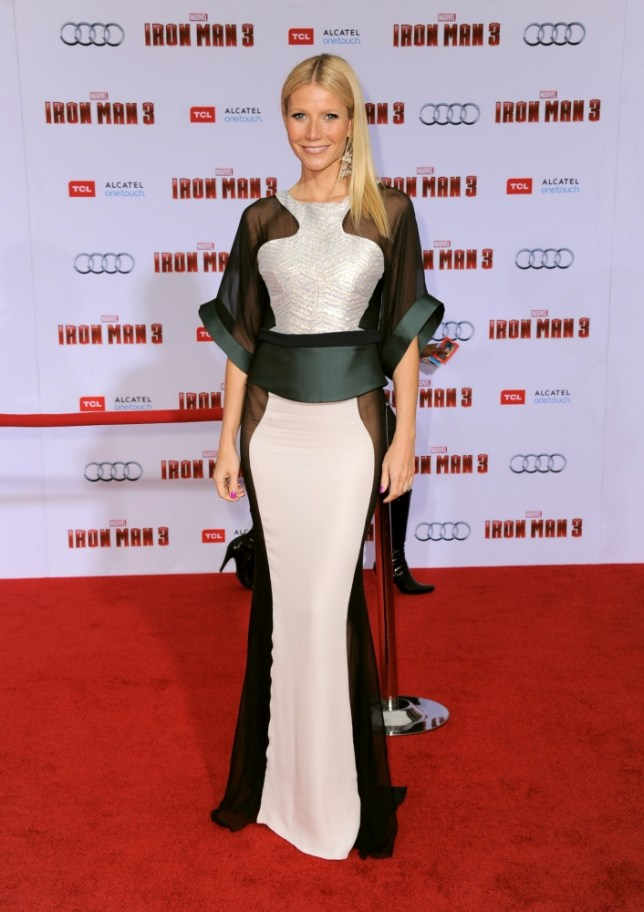 Gwyneth Paltrow arrives at the world premiere of Marvel's Iron Man 3