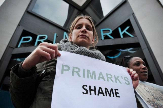 Primark, protest