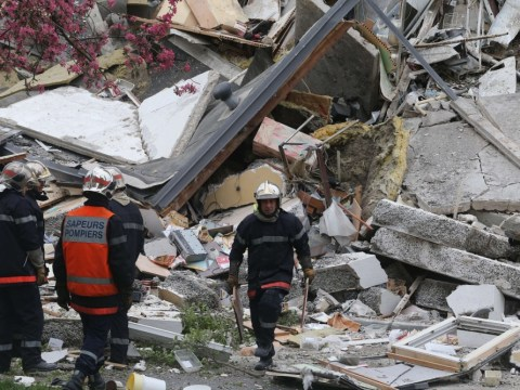 Two die as French block of flats collapses after 'gas explosion' in Reims