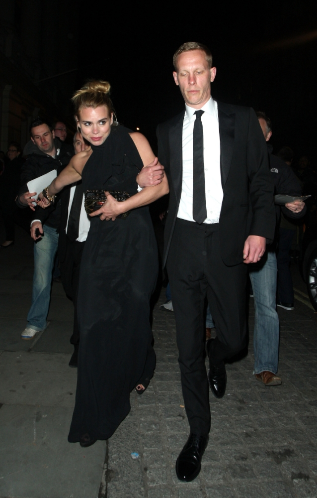 Laurence Fox races Billie Piper away from Olivier Awards
