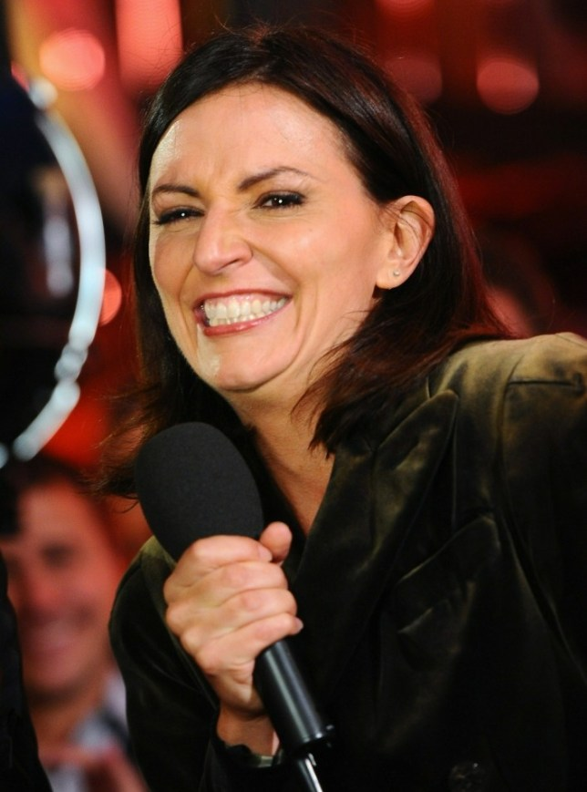 Davina McCall Presets the final of Ultimate Big Brother on September 10, 2010 in Borehamwood, England.    BOREHAMWOOD, ENGLAND - SEPTEMBER 10:   (Photo by Ian Gavan/Getty Images)