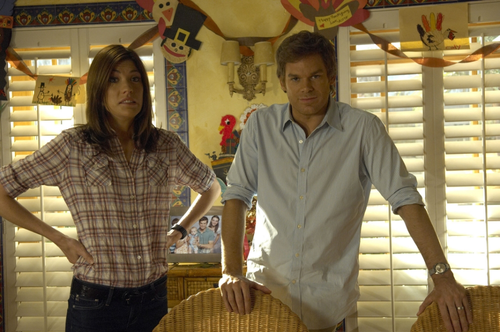 Jennifer Carpenter as Debra Morgan and Michael C. Hall as Dexter (Picture: Supplied)