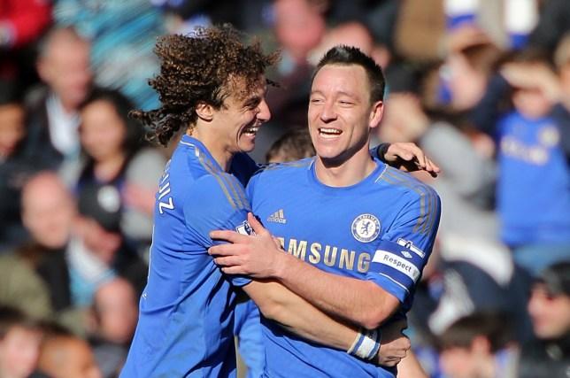 Chelsea's John Terry celebrates scoring his side's fourth goal o