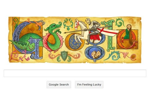St George's Day celebrated with Google Doodle on William Shakespeare's birthday