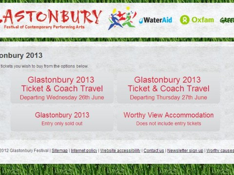 Glastonbury 2013 resale tickets sold out: 'Getting one harder than London Marathon'