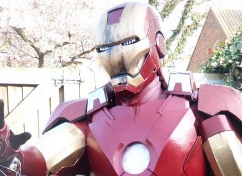 Superhero fan builds his own foam Iron Man costume