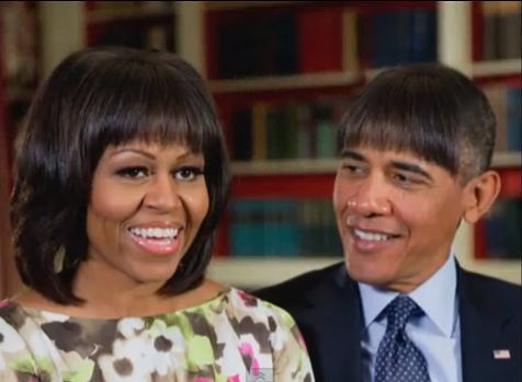 Barack Obama borrows his wife Michelle's popular haircut