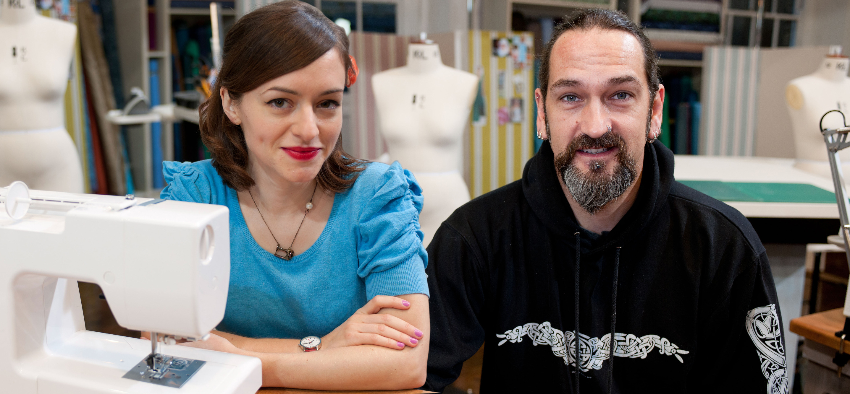 Tilly and Mark depart Great British Sewing Bee