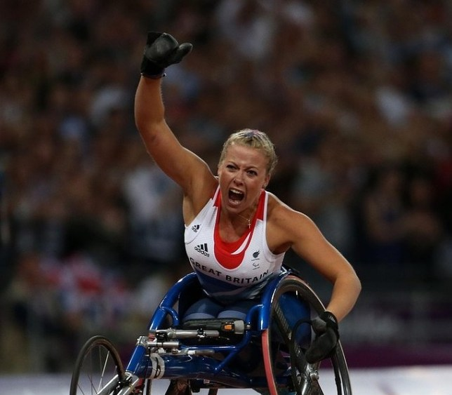 Top of her game: Cockroft races to Paralympic glory in London (Picture: PA)