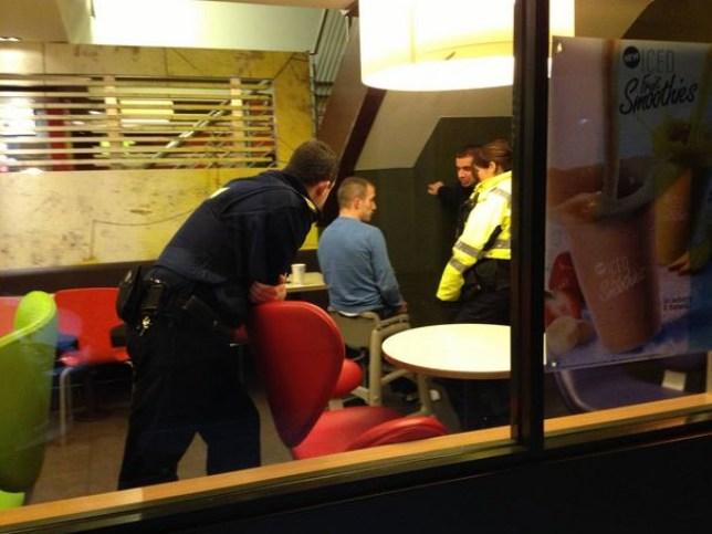 Man stuck in McDonald's baby high chair on Winthrop Street , Cork