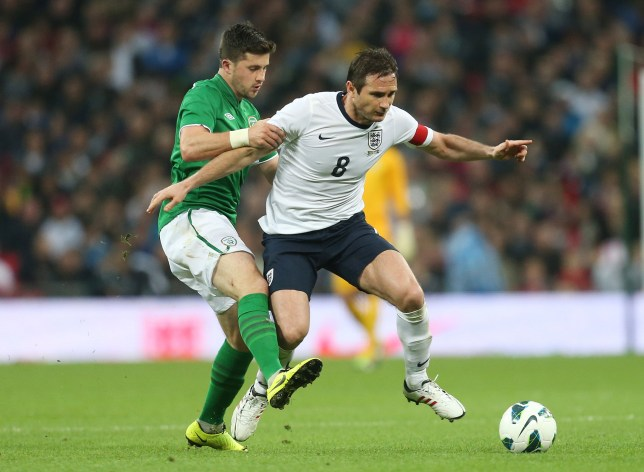 England's Frank Lampard (R) and Ireland's Shane Long in action (Picture: Action Images)