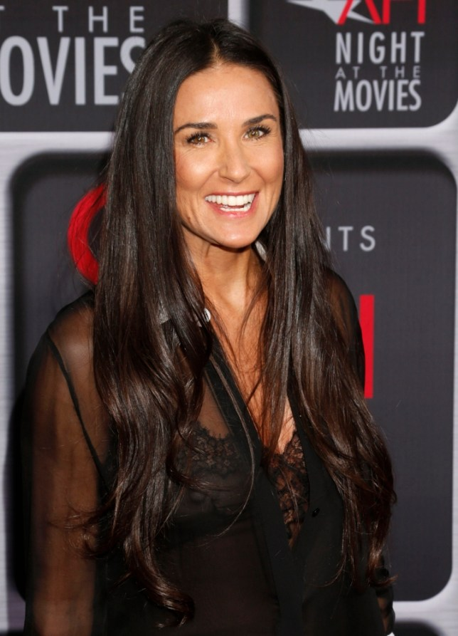 Demi Moore arrives at the AFI Night at the Movies at the ArcLight on Wednesday, April 24, 2013 in Los Angeles. (Photo by Todd Williamson/Invision/AP)