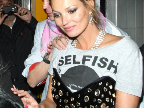 Kate Moss proves she's a 'lucky bitch' at Fran Cutler 80's themed fancy dress party