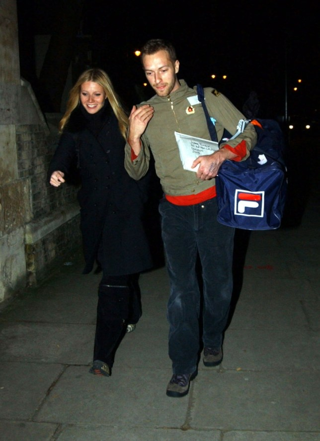 LONDON EXCLUSIVE PICTURES OF HOLLYWOOD ACTRESS GWYNETH PALTROW DISPLAYING HER LOVE FOR BOYFRIEND CHRIS MARTIN, FRONTMAN OF COLDPLAY, ON ST.VALENTINES DAY.  CHRIS SPENT THE DAY GETTING HIMSELF READY FOR GWYNETH BY WORKING OUT IN THE GYM.  HE THEN WENT TO A CASHPOINT TO DRAW OUT SOME MONEY AND BEFORE GETTING INTO A TAXI HE HANDED 100 TO A HOMELESS GUY.  HE HEADED FOR GWYNETH'S PLACE WHERE THEY SPENT ABOUT 5 HOURS TOGETHER INSIDE BEFORE STEPPING OUT WITH THEIR BAGS PACKED AND HEADING OFF FOR A ROMANTIC WEEKEND TOGETHER. BYLINE:  BEIRNE & ALEX T-EAGLE/XPOSURE