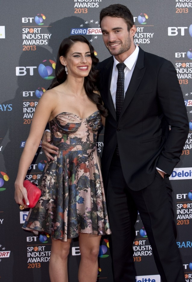 Jessica Lowndes and Thom Evans look smitten as they make their red carpet debut as a couple
