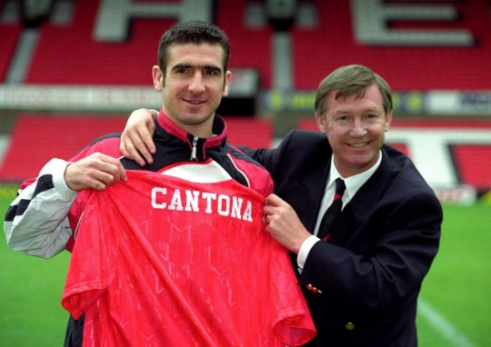 File photo dated 27/11/1992 of Eric Cantona, Manchester United's new signing, with manager Alex Ferguson. PRESS ASSOCITAION Photo. Issue date: Wednesday May 8, 2013. Sir Alex Ferguson will retire at the end of this season, Manchester United have announced. See PA Story SOCCER Man Utd. Photo credit should read: Malcolm Croft/PA Wire.