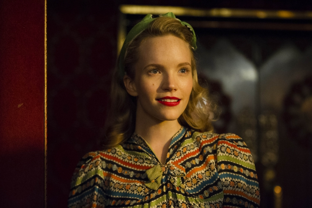 Tamzin Merchant in ITV's new crime drama, Murder On The Home Front (Picture: Steffan Hill)