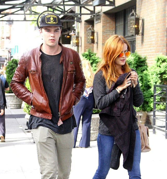 Nicholas Hoult who has recently been spotted on a dinner date with his ex girlfriend Jennifer Lawrence, was spotted out with Riley Keough, his costar in their new movie 'Mad Max: Fury Road'. The two were spotted leaving their hotel in New York City Tuesday afternoon. Lisa Marie Presley's daughter seemed to not want to be photographed and shied away from the camera. <P> Pictured: Nicholas Hoult, Riley Keough <B>Ref: SPL538981  080513  </B><BR/> Picture by: Said Elatab / Splash News<BR/> </P><P> <B>Splash News and Pictures</B><BR/> Los Angeles: 310-821-2666<BR/> New York: 212-619-2666<BR/> London: 870-934-2666<BR/> photodesk@splashnews.com<BR/> </P>