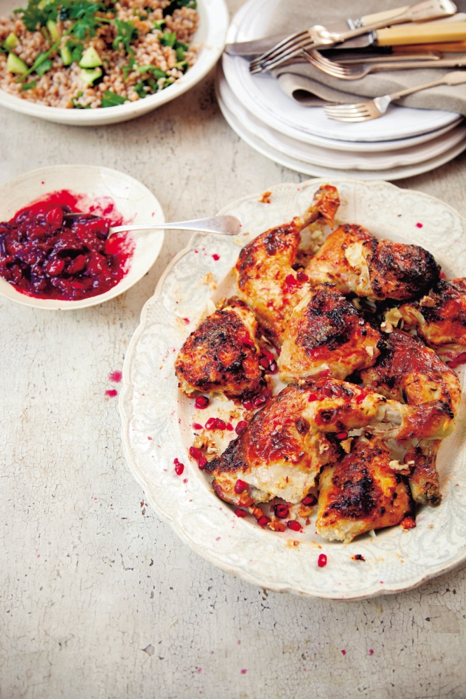 How to cook chicken with Georgian plum sauce for the perfect Eurovision party menu