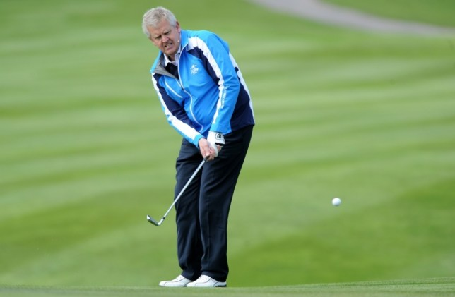 NEWPORT, UNITED KINGDOM - MAY 10: Colin Montgomerie gives a golf masterclass at Celtic Manor Resort on May 10, 2013 in Newport, Wales. (Photo by Matthew Horwood/Getty Images)