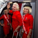 Sir Richard Branson dresses up as air stewardess after