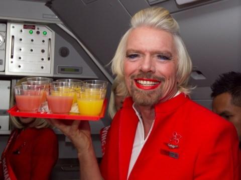 Gallery: Virgin boss Richard Branson becomes air stewardess after losing bet
