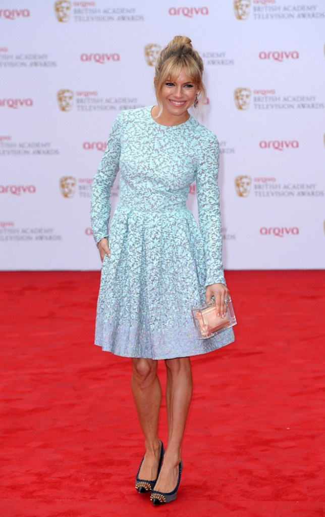 Sienna Miller arriving for the 2013 Arqiva British Academy Television Awards at the Royal Festival Hall, London. PRESS ASSOCIATION Photo. Picture date: Sunday May 12, 2013. See PA story SHOWBIZ Bafta. Photo credit should read: Dominic Lipinski/PA Wire