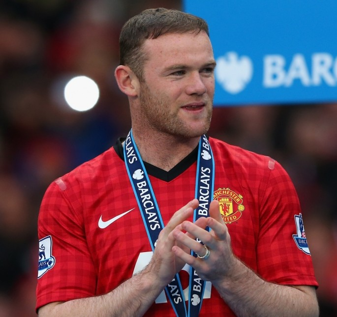 MANCHESTER, ENGLAND - MAY 12:  Wayne Rooney of Manchester United looks on following the Barclays Premier League match between Manchester United and Swansea City at Old Trafford on May 12, 2013 in Manchester, England.  (Photo by Alex Livesey/Getty Images)