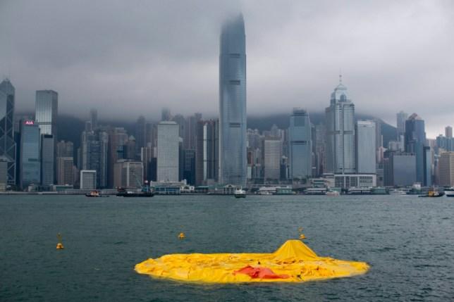 Duck deflated, Hong Kong