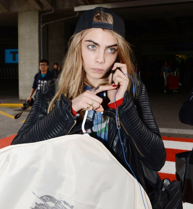 15.MAY.2013 - NICE - FRANCE BRITISH MODEL CARA DELEVINGNE IS SPOTTED UPON ARRIVAL AT NICE-COTE D'AZUR INTERNATIONAL AIRPORT! THE STAR IS TRAVELLING TO CANNES TO ATTEND THE 66TH FILM FESTIVAL! BYLINE MUST READ : XPOSUREPHOTOS.COM *AVAILABLE FOR UK SALE ONLY* ***UK CLIENTS - PICTURES CONTAINING CHILDREN PLEASE PIXELATE FACE PRIOR TO PUBLICATION *** **UK CLIENTS MUST CALL PRIOR TO TV OR ONLINE USAGE PLEASE TELEPHONE 44 208 370 0291**
