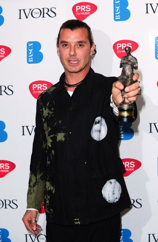 Gavin Rossdale with the International Achievement award at the 2013 Ivor Novello awards held at the Grosvenor House Hotel, London. PRESS ASSOCIATION Photo. Picture date: Thursday May 16, 2013. See PA story SHOWBIZ Novello. Photo credit should read: Ian West/PA Wire