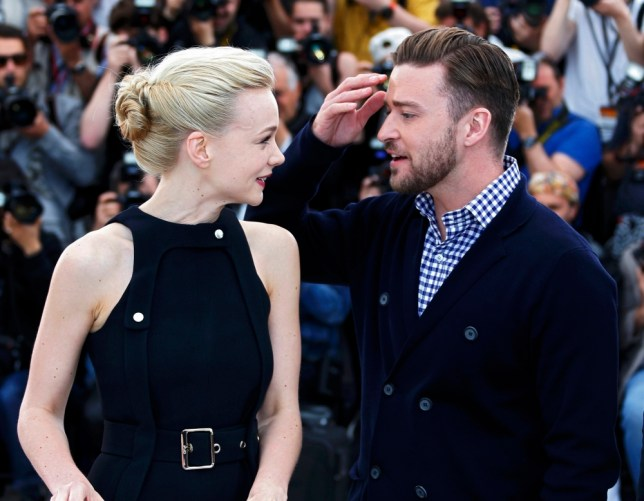 Cast members Justin Timberlake (R) and Carey Mulligan pose during a photocall for the film 'Inside Llewyn Davis' at the 66th Cannes Film Festival in Cannes May 19, 2013.         REUTERS/Eric Gaillard (FRANCE  - Tags: ENTERTAINMENT)