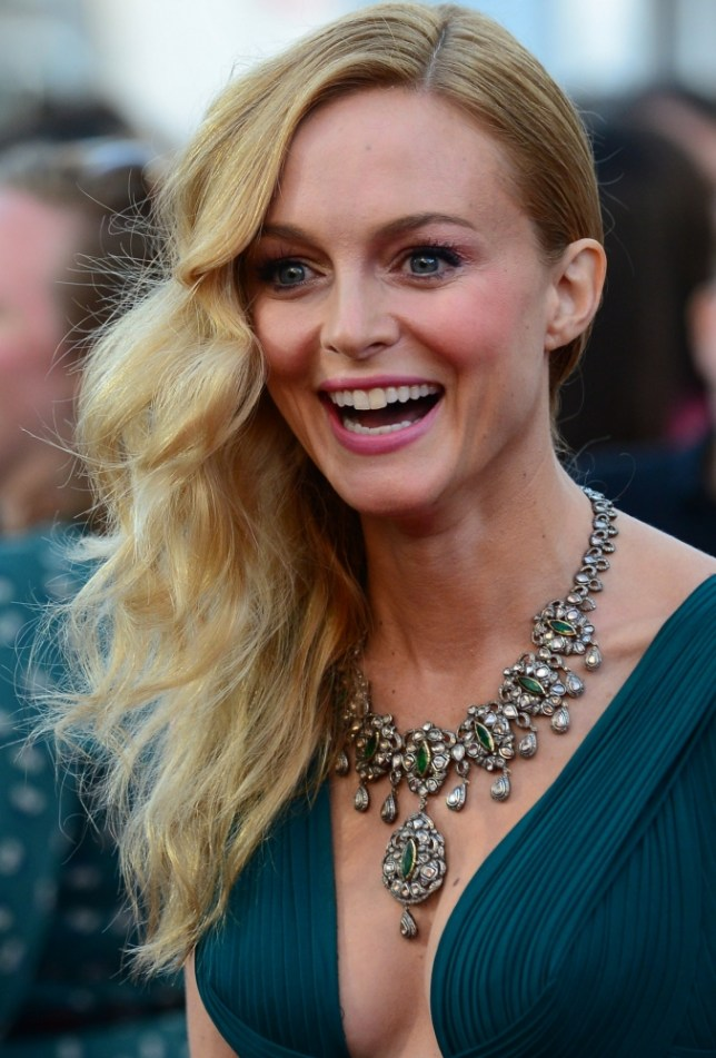 Sauce pot: Heather Graham has reveled her girlie conversations often turn kinky when she is out with her female friends (Photo: AFP PHOTO/Frederic J. BROWNFREDERIC J. BROWN/AFP/Getty Images)