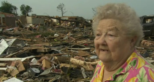 Oklahoma City tornado survivor finds dog under rubble during live TV interview