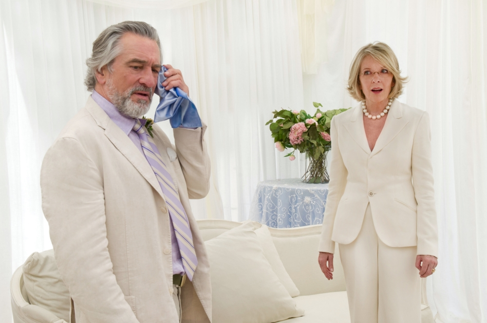 Robert De Niro and Diane Keaton in The Big Wedding (Picture: Barry Wetcher)