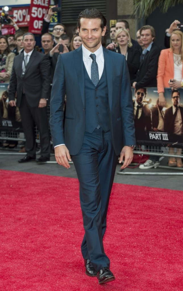LONDON, ENGLAND - MAY 22:  Bradley Cooper attends The Hangover III - UK film premiere at The Empire Cinema on May 22, 2013 in London, England.  (Photo by Mark Cuthbert/UK Press via Getty Images)